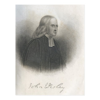 John Wesley Methodist founder Postcard