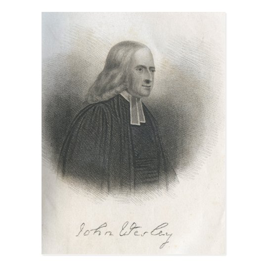 John Wesley Methodist founder Postcard