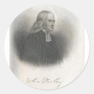 John Wesley Methodist founder Round Stickers