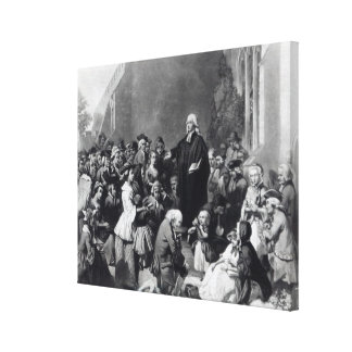 John Wesley preaching Canvas Print
