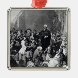 John Wesley preaching Metal Ornament