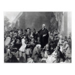 John Wesley preaching Postcard