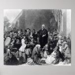 John Wesley preaching Posters