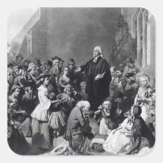 John Wesley preaching Square Sticker