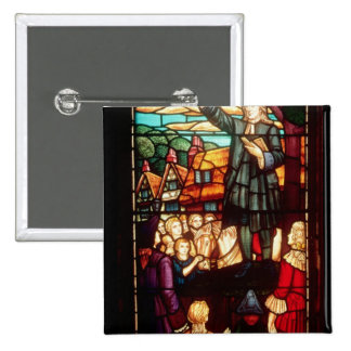 John Wesley  Preaching the Gospels in England 2 Inch Square Button
