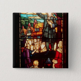John Wesley  Preaching the Gospels in England Pinback Button