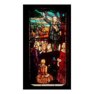 John Wesley  Preaching the Gospels in England Poster