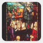 John Wesley  Preaching the Gospels in England Sticker
