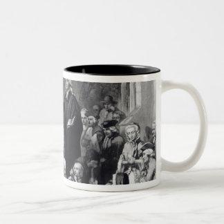 John Wesley preaching Two-Tone Coffee Mug