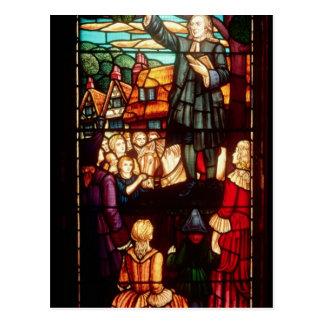 John Wesley que predica los evangelios en Postales