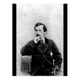 John Wilkes Booth,  ca.  1862.  Charles DeForest F Postcard