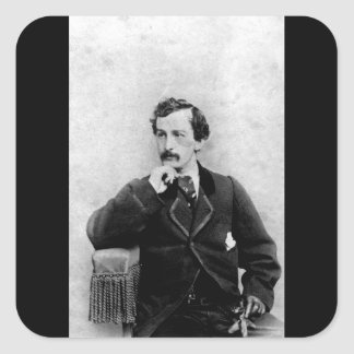 John Wilkes Booth,  ca.  1862.  Charles DeForest F Square Sticker