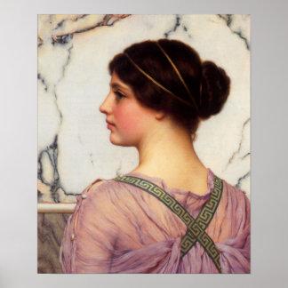 John William Godward - A grecian lovely Poster