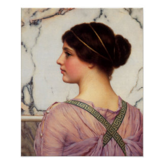 John William Godward - A grecian lovely Posters