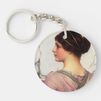 John William Godward- A Grecian Lovely Single-Sided Round Acrylic Keychain