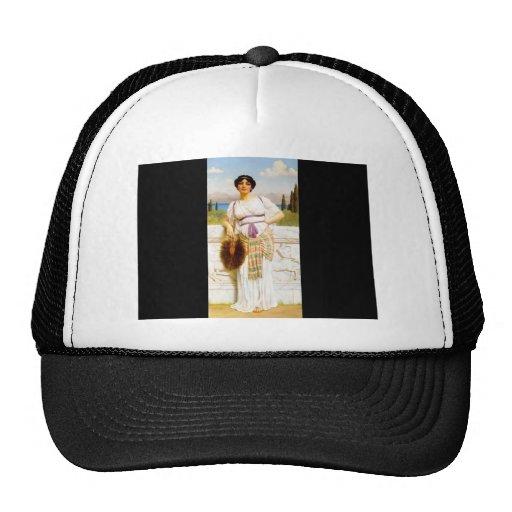 John William Godward- A Greek Beauty Hats