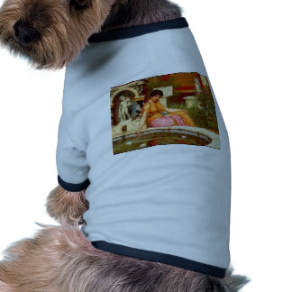 John William Godward- A Lily Pond Doggie T-shirt