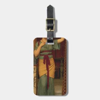 John William Godward- A Pompeian Lady Tag For Luggage