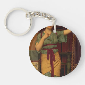 John William Godward- A Pompeian Lady Single-Sided Round Acrylic Keychain