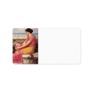 John William Godward - Absence makes the heart gro Personalized Address Label