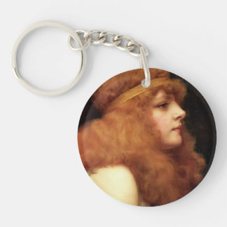 John William Godward- An Auburn Beauty Single-Sided Round Acrylic Keychain