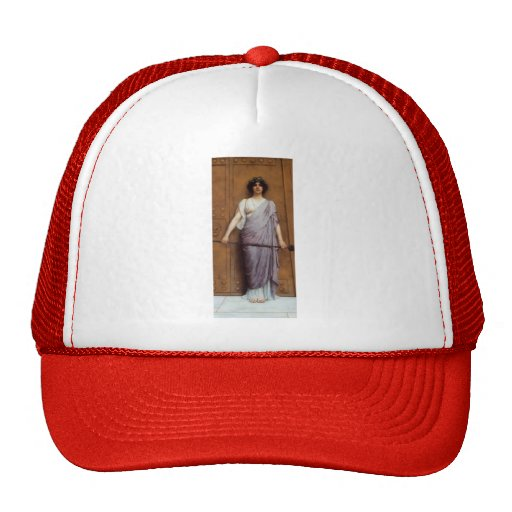John William Godward- At the Gate of the Temple Trucker Hat