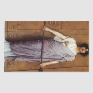 John William Godward - At the Gate Rectangular Sticker