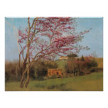 John William Godward - Blossoming Red Almond Posters