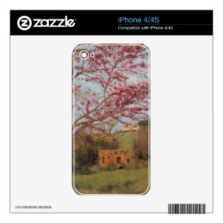John William Godward - Blossoming Red Almond Skins For iPhone 4