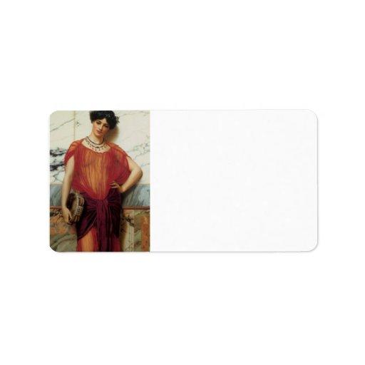 John William Godward - Drusilla Custom Address Labels