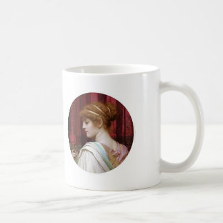 John William Godward- Girl with Red Rose Coffee Mug