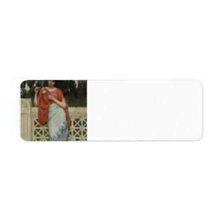 John William Godward- He Loves Me, He Loves Me Not Custom Return Address Label