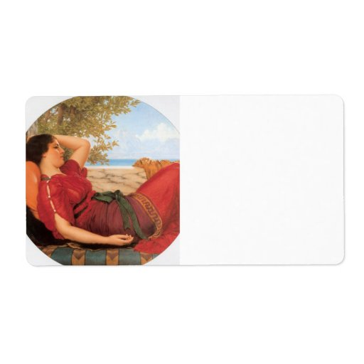 John William Godward - In Realms of Fancy Personalized Shipping Labels