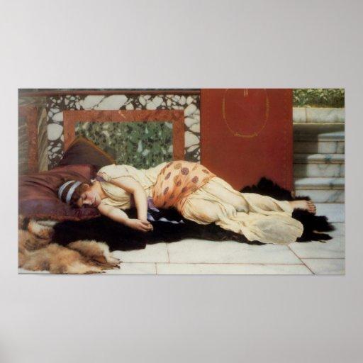 John William Godward - In Realms of Fancy Poster