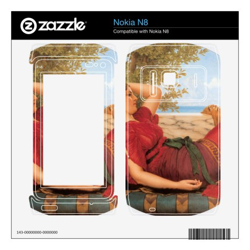 John William Godward - In Realms of Fancy Decal For The Nokia N8