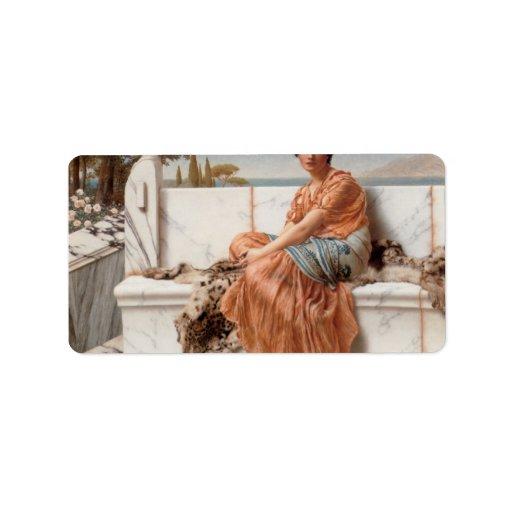 John William Godward - In the Days of Sappho Address Label