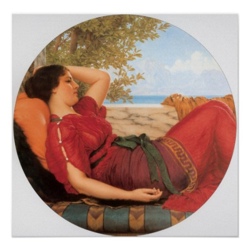 John William Godward - In the Days of Sappho Posters