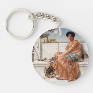 John William Godward- In the Days of Sappho Single-Sided Round Acrylic Keychain