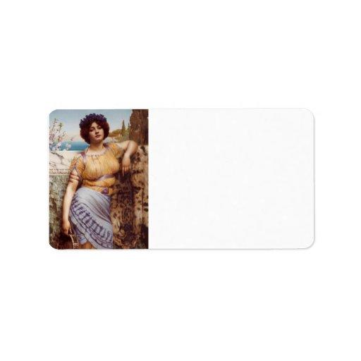 John William Godward - Ionian dancing girl Custom Address Label