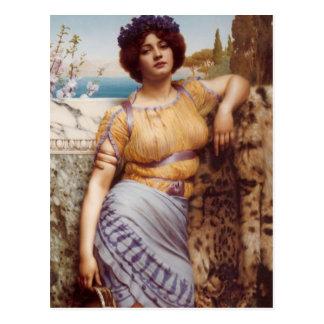 John William Godward - Ionian dancing girl Postcard
