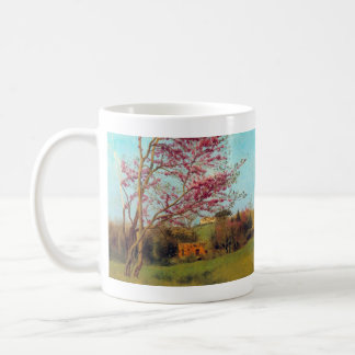 John William Godward - Landscape Blossoming Red Al Mugs