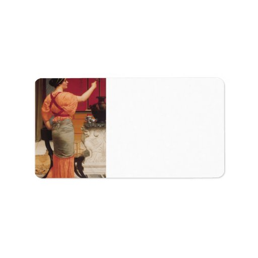 John William Godward - Lesbia with her Sparrow Personalized Address Labels