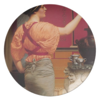 John William Godward- Lesbia with her Sparrow Plates