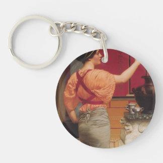 John William Godward- Lesbia with her Sparrow Single-Sided Round Acrylic Keychain