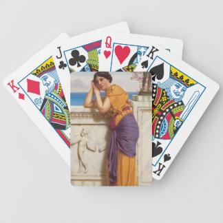 John William Godward- Rich Gifts Wax to Poor Poker Deck