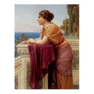 John William Godward - The belvedere Postcard