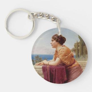 John William Godward- The Belvedere Single-Sided Round Acrylic Keychain