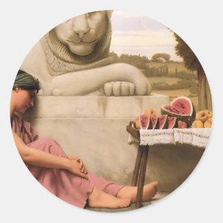 John William Godward- The Fruit Vendor Classic Round Sticker