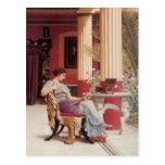 John William Godward- The Jewel Casket Post Card