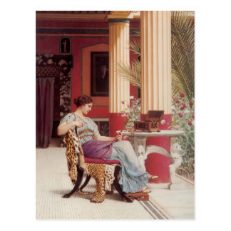 John William Godward- The Jewel Casket Postcard